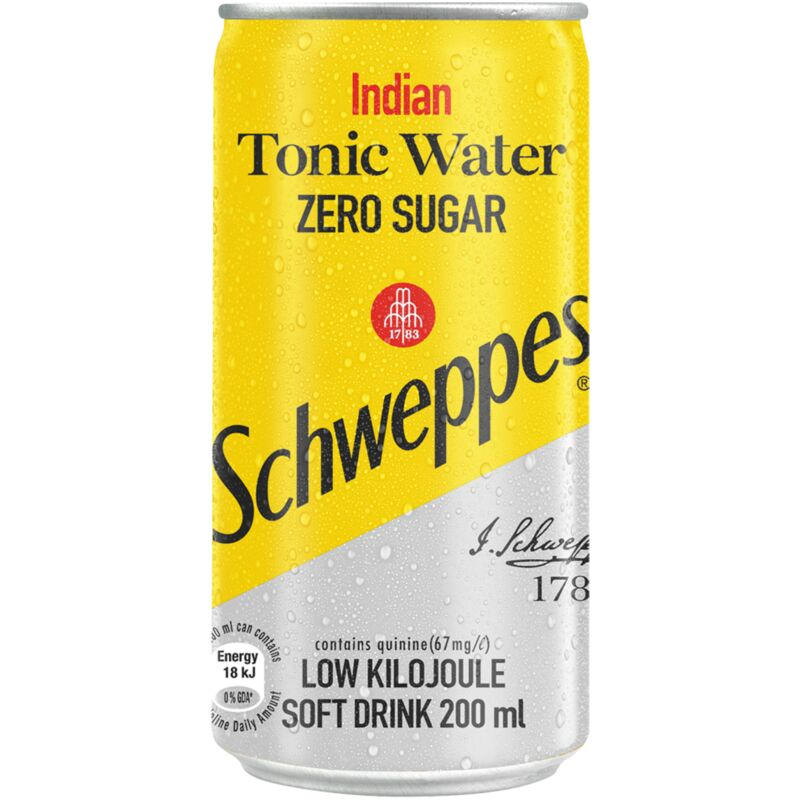 SCHWEPPES SOFT DRINK INDIAN TONIC ZERO SUGAR – 200ML