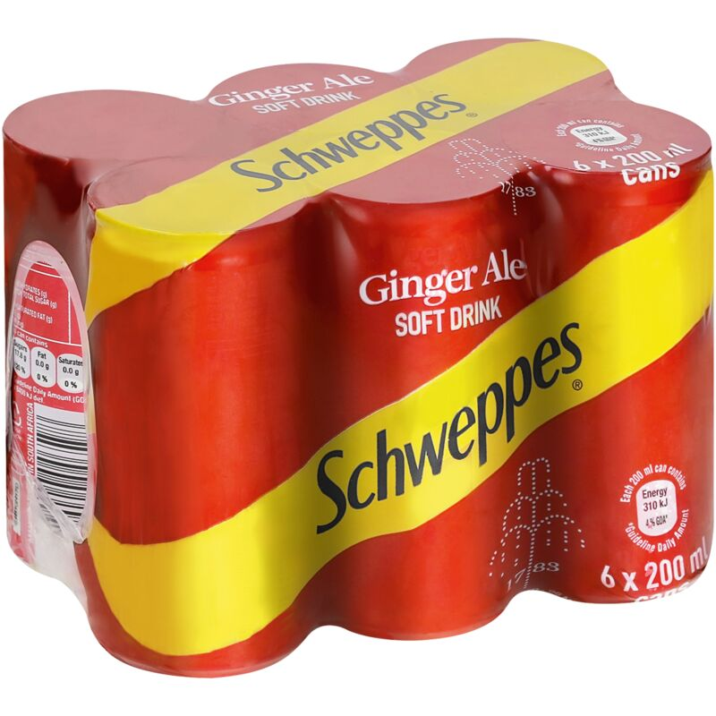 SCHWEPPES GINGER ALE – 200ML X 6