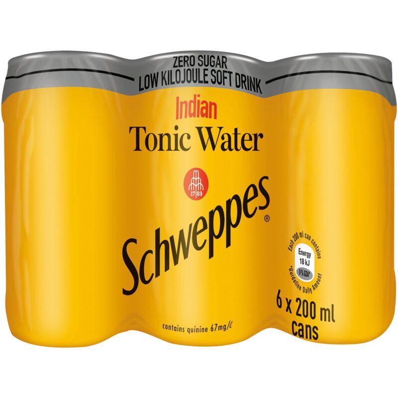 SCHWEPPES TONIC WATER – 200ML X 6