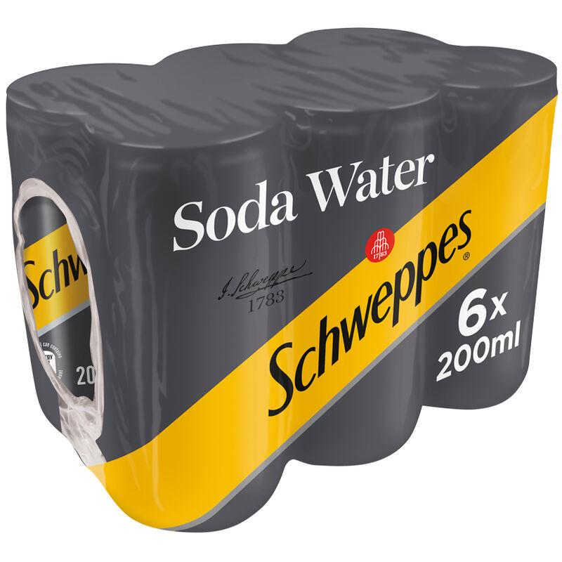 SCHWEPPES SODA WATER – 200ML X 6