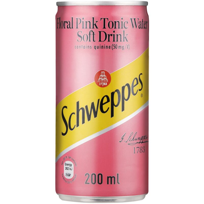 SCHWEPPES TONIC WATER FLORAL PINK – 200ML