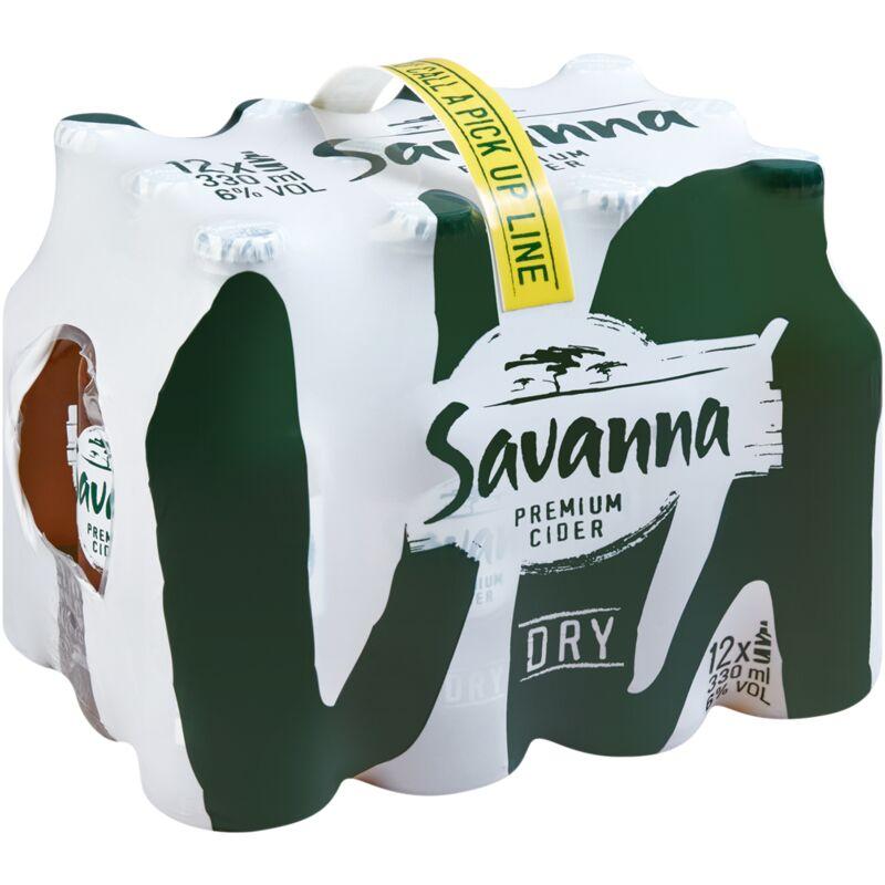 SAVANNA CIDER DRY 12 PACK – 330ML