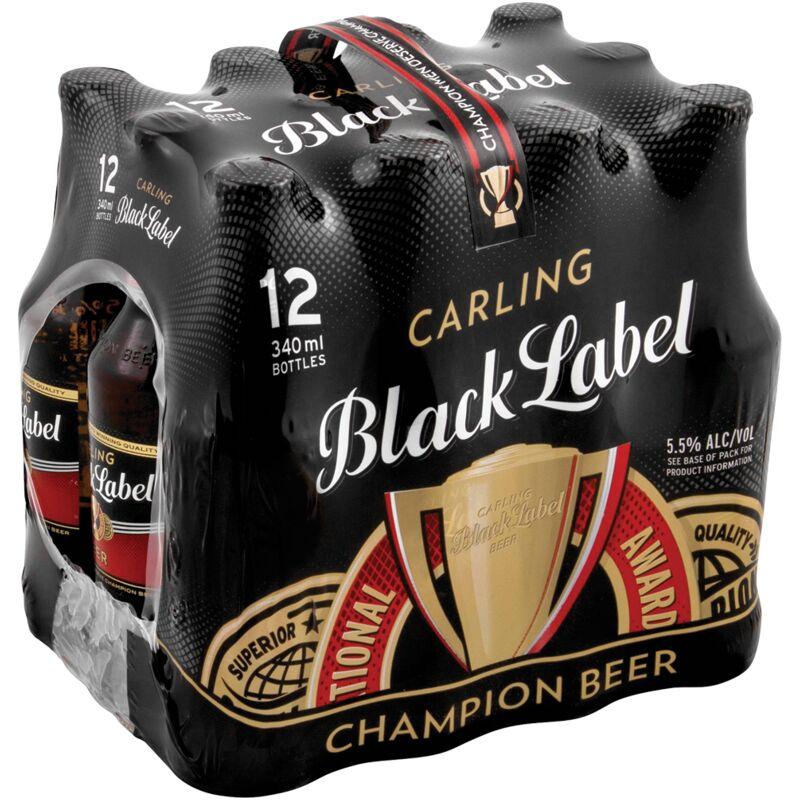 CARLING BLACK LABEL NRB 12 PACK – 340ML