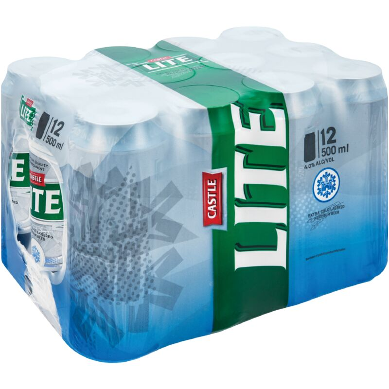CASTLE LITE CAN 12 PACK – 500ML