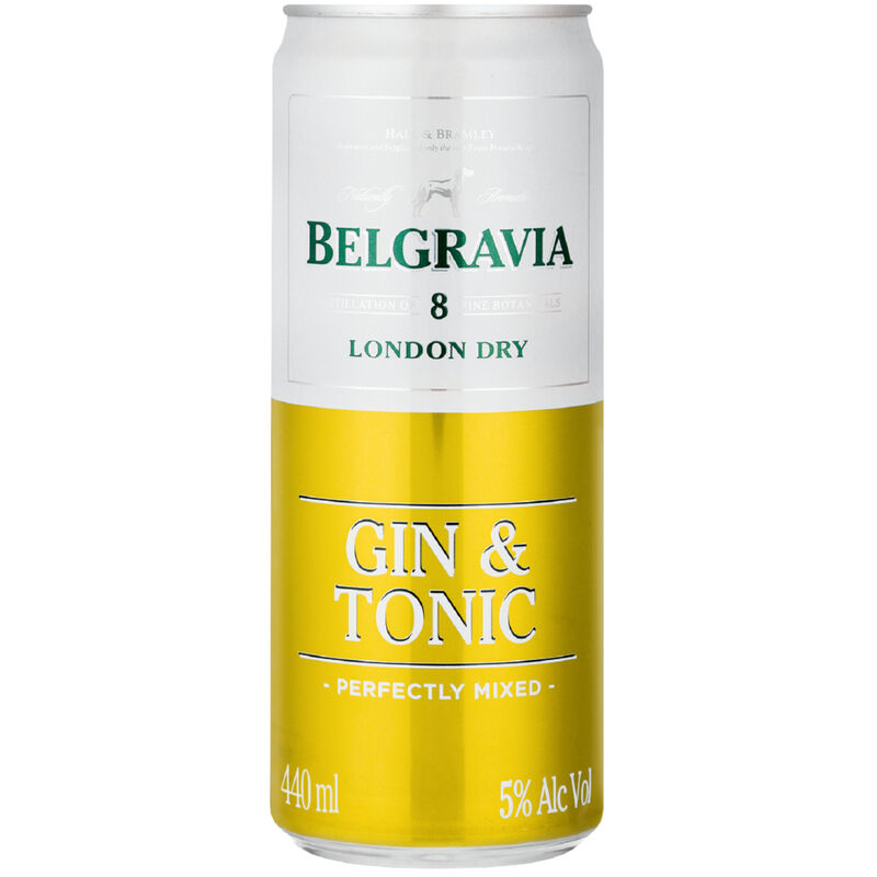 BELGRAVIA COOLER GIN & TON – 440ML