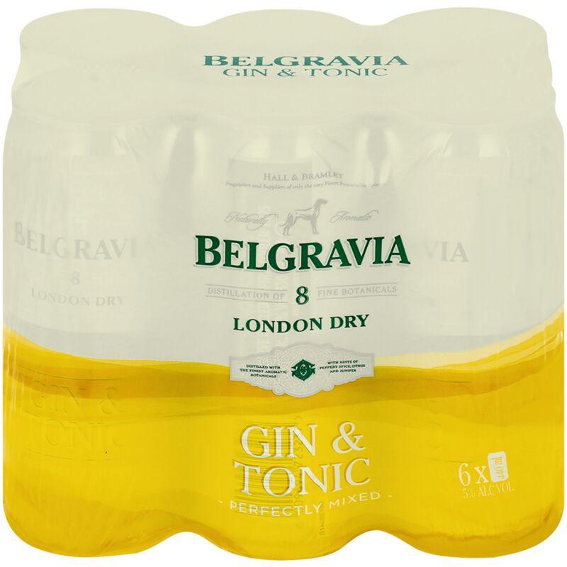 BELGRAVIA COOLER GIN & TON – 440ML X 6